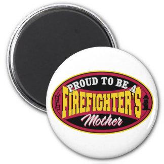 Orgulloso ser una madre de los bomberos imán redondo 5 cm