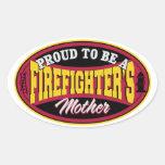 Orgulloso ser una madre de los bomberos colcomanias de oval