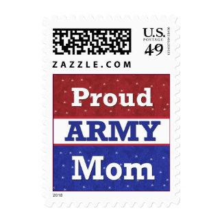 Orgulloso ser una mamá del ejército sello postal