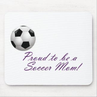 Orgulloso ser una mamá del fútbol alfombrilla de ratón