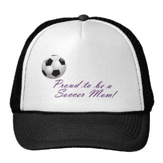 Orgulloso ser una mamá del fútbol gorro de camionero