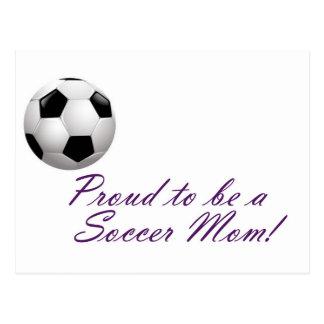 Orgulloso ser una mamá del fútbol tarjetas postales