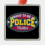 Orgulloso ser una policía engendre ornamento de navidad