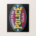 Orgulloso ser una policía engendre puzzle con fotos