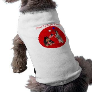 Orgulloso ser una ropa americana del mascota playera sin mangas para perro