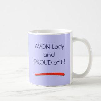 Orgulloso ser una señora Mug de Avon Taza Básica Blanca