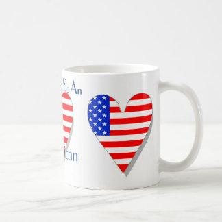 Orgulloso ser una taza americana del corazón