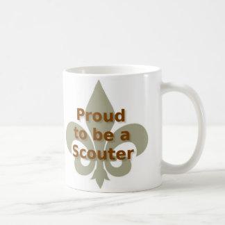Orgulloso ser una taza de café de Scouter