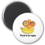 Orgulloso ser vegano imán de nevera