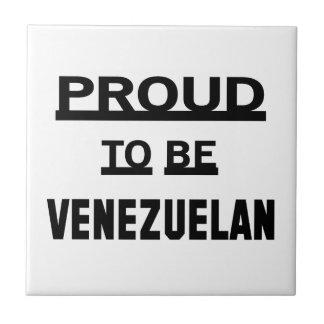 Orgulloso ser venezolano azulejo cuadrado pequeño