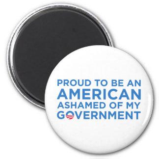 Orgulloso ser y americano imán redondo 5 cm