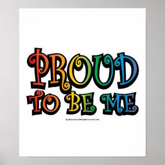 Orgulloso ser yo LGBT Póster