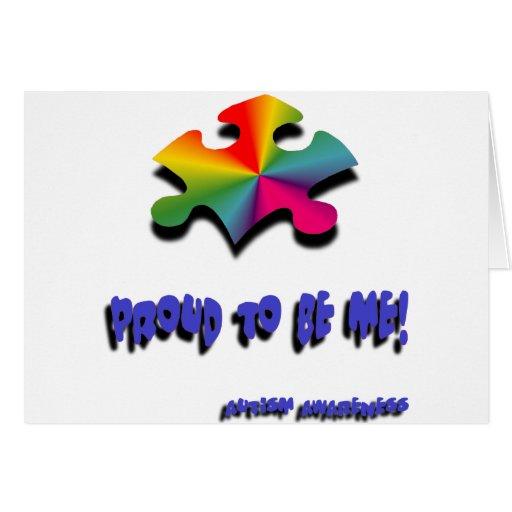 Orgulloso ser yo tarjeta de felicitación