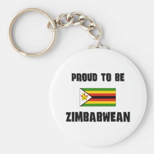 Orgulloso ser ZIMBABUENSE Llavero Personalizado