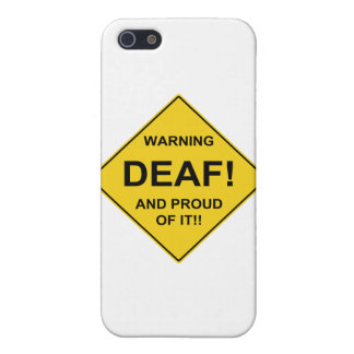 Orgulloso sordo iPhone 5 fundas