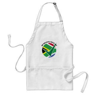 Orgulloso surafricano delantal