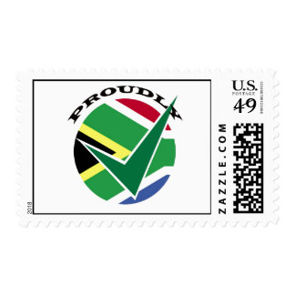 Orgulloso surafricano sello postal