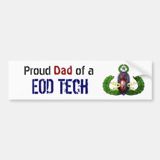 Orgulloso, tecnología del EOD, papá del EOD Etiqueta De Parachoque