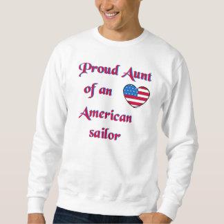 Orgulloso-Tía-Marinero-Marina de guerra-UNo Sudadera