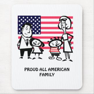 Orgulloso toda la familia americana alfombrilla de ratones