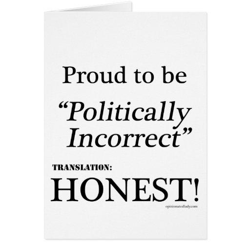 Orgulloso y honesto tarjeta de felicitación