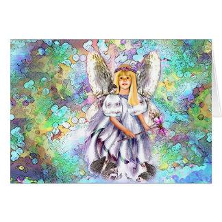 """""""Oria"""" Hedgehog Fairy Card"""