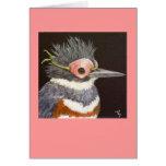 Oriana la tarjeta enmascarada del martín pescador