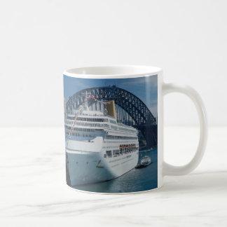 Oriana passenger liner on its maiden voyage, harbo coffee mug