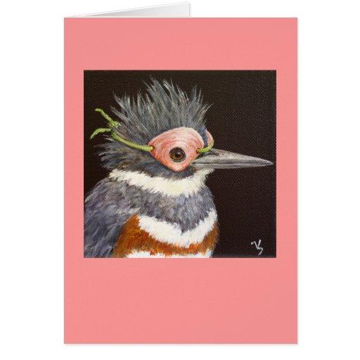 Oriana the masked kingfisher card