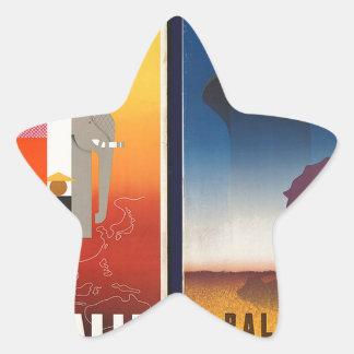 orient and palestine star sticker