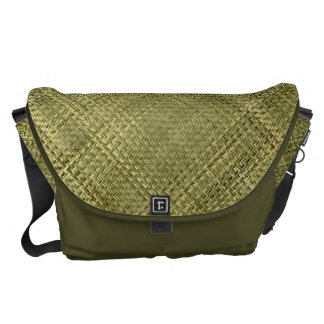 Orient Bamboo Weave Pattern Courier Bag