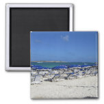 Orient Bay Beach 2 Inch Square Magnet