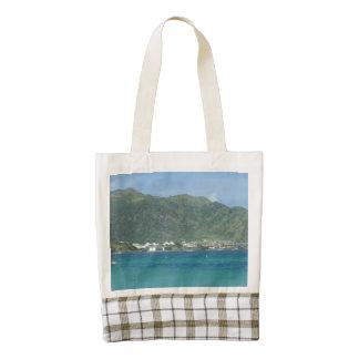 Orient Bay View Tropics Zazzle HEART Tote Bag