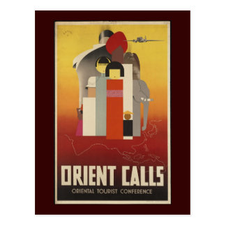 Orient Calls Postcard