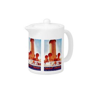 Orient Cruises Big Funnel Teapot