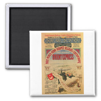 Orient Express 2 Inch Square Magnet