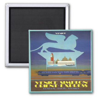 Orient Express Venice 2 Inch Square Magnet