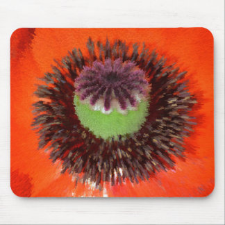 Orient giant poppy red flowering, cap, extrudes mousepads