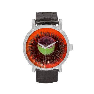 Orient giant poppy red flowering, cap, extrudes, watch