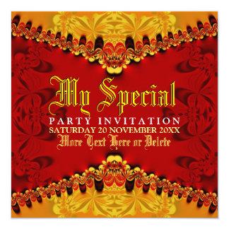 Orient Jungle Art Party Invitation
