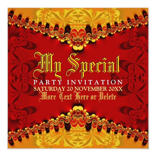 Personalized Arabian nights Invitations – Arabian Nights Party Invitations