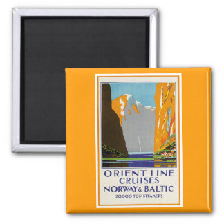 Orient Line Cruises Norway and Baltic Vintage Magnet