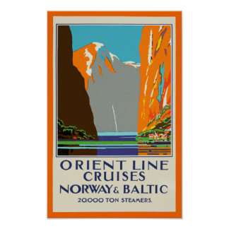 Orient Line Cruises ~ Norway & Baltic Poster