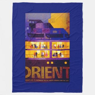 Orient Line ~ Party on Deck Fleece Blanket
