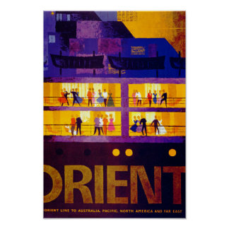 Orient Line ~ Party on Deck Poster