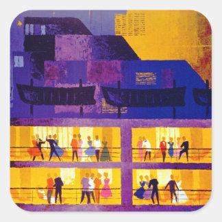 Orient Line ~ Party on Deck Square Sticker