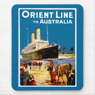 Orient Line to Australia Mouse Pad