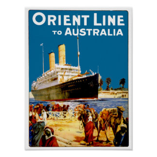 Orient Line to Australia Print