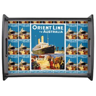 Orient Line to Australia Serving Tray