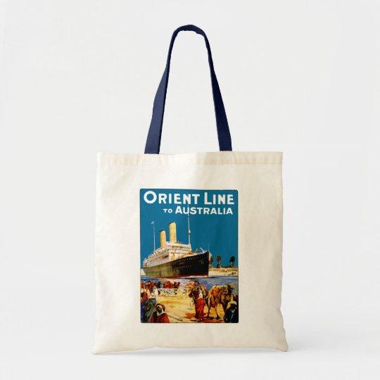 Orient Line to Australia Tote Bag